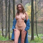 Naked Anya - from home to the forest park, pic 9