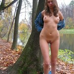 Naked Anya - from home to the forest park, pic 13