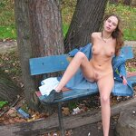 Naked Anya - from home to the forest park, pic 15