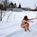 Naked girl in the village ..., pic 12