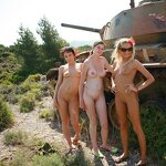 Naked girls on the tank