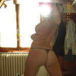 Ex-girlfriend naked in stockings, pic 11