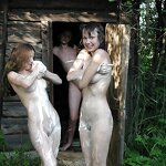 Bachelorette party naked in nature, pic 34