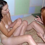 Two girlfriends smeared with cream, pic 7