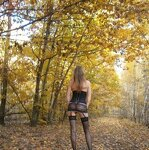 Erotica in the autumn forest, pic 3