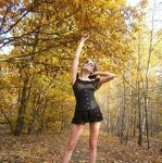 Erotica in the autumn forest, pic 5