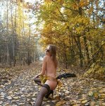 Erotica in the autumn forest, pic 8