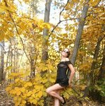 Erotica in the autumn forest, pic 11