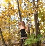 Erotica in the autumn forest, pic 15