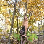 Erotica in the autumn forest, pic 16
