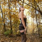 Erotica in the autumn forest, pic 19