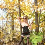 Erotica in the autumn forest, pic 22