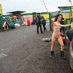 Naked girl in the parking, pic 12