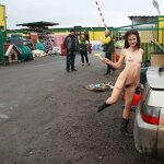 Naked girl in the parking, pic 15