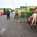 Naked girl in the parking, pic 20