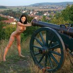 Naked beauty saddled the cannon, pic 4