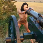 Naked beauty saddled the cannon, pic 5