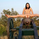 Naked beauty saddled the cannon, pic 16