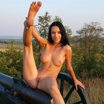 Naked beauty saddled the cannon, pic 18