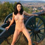 Naked beauty saddled the cannon, pic 19