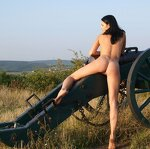 Naked beauty saddled the cannon, pic 21