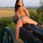 Naked beauty saddled the cannon, pic 22