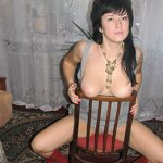 Naked wife on a chair, pic 4