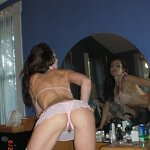Naked wife in white stockings, pic 8