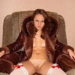 Naked wife in a coat, pic 3