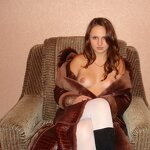 Naked wife in a coat, pic 10