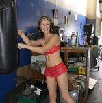 Naked wife in the garage, pic 39