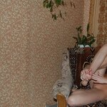 Naked wife in an armchair and bed, pic 7