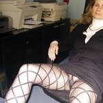 Naked wife in the office, pic 5