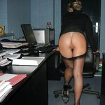 Naked wife in the office, pic 17