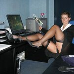 Naked wife in the office, pic 29