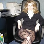 Naked wife in the office, pic 30