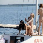 Naked girls on a yacht, pic 19