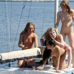 Naked girls on a yacht, pic 21