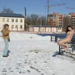 Naked on a winter street, pic 9