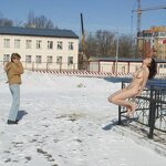 Naked on a winter street, pic 10