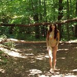 Naked in a forest park, pic 1