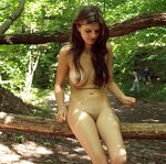 Naked in a forest park, pic 2
