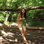 Naked in a forest park, pic 3
