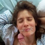 Cum on wife's face, pic 15