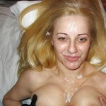 Cums on my wife's face, pic 35