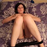 Masha fucked herself with dildo, pic 9