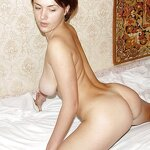 Unshaven pussy posing in a carpet, pic 14