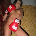 My girlfriend in boxing gloves, pic 6