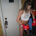 My girlfriend in boxing gloves, pic 11