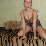 Russian girl naked on the bed, pic 14